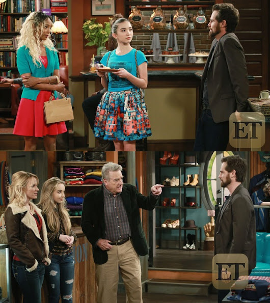 Chet and Angela on the Girl Meets World Set!
