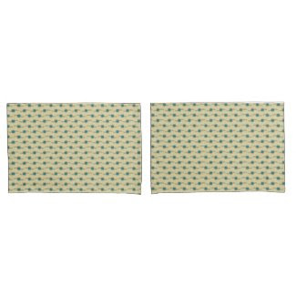 Signature Turquoise Abstract Dots Pattern Pillowcase