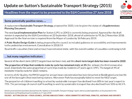 Sustainable Transport Strategy 2015: a progress report for 2018