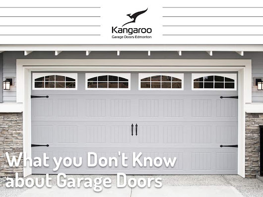 What You Didn't Know About Garage Doors - Kangaroo Garage Doors