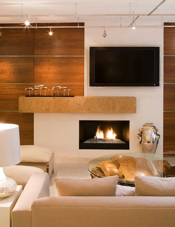 30 Living Room Design Ideas With TV Set on Wall ...