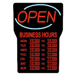 Royal Sovereign LED Open Sign with Business Hours