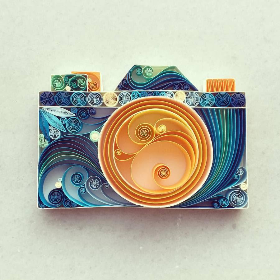 Seni kertas yg berwarna warni dan sangat indah !