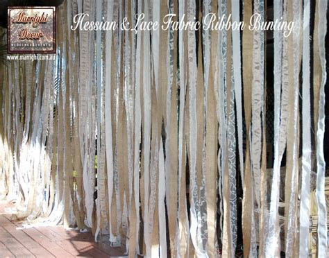 FOR HIRE   2m long drop Hessian & Lace Fabric Ribbon