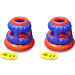 2 Swimline 90286 Slot Slam Disc Toss Inflatable Floating Swimming Pool Games