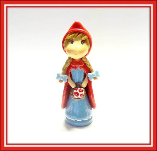 Cold Porcelain Clay Little Red Riding Hood by coldporcelainbypatty