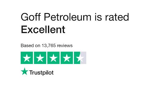 "Goff Petroleum is rated ""Excellent"" with 9.4 / 10 on Trustpilot"