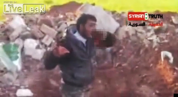 syrian rebel abu sakkar eats heart