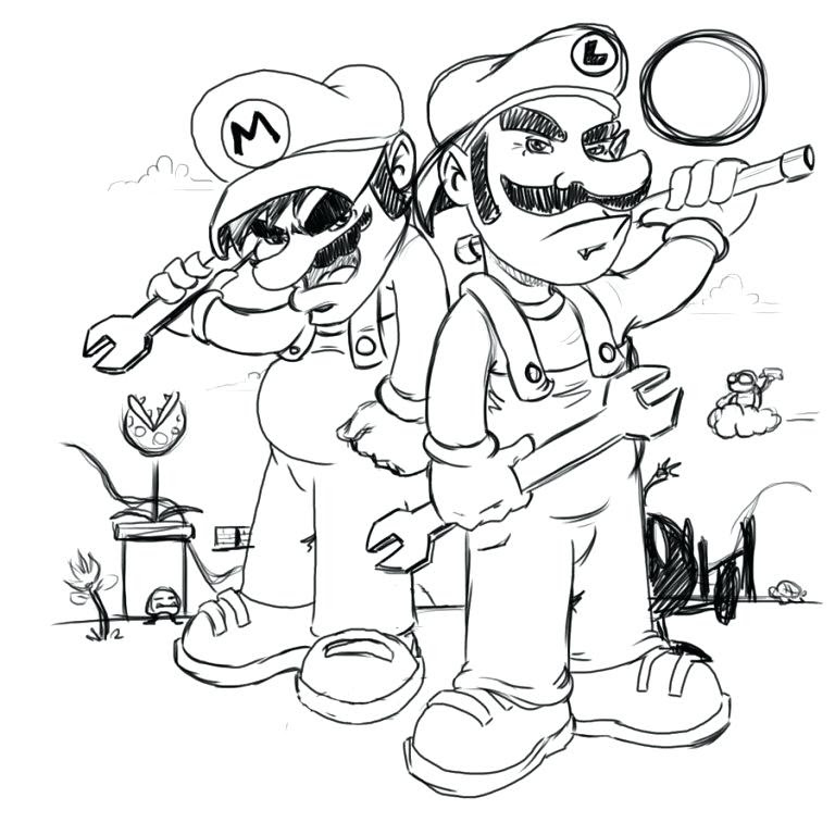 Baby Mario And Baby Luigi Coloring Pages At Getdrawingscom Free