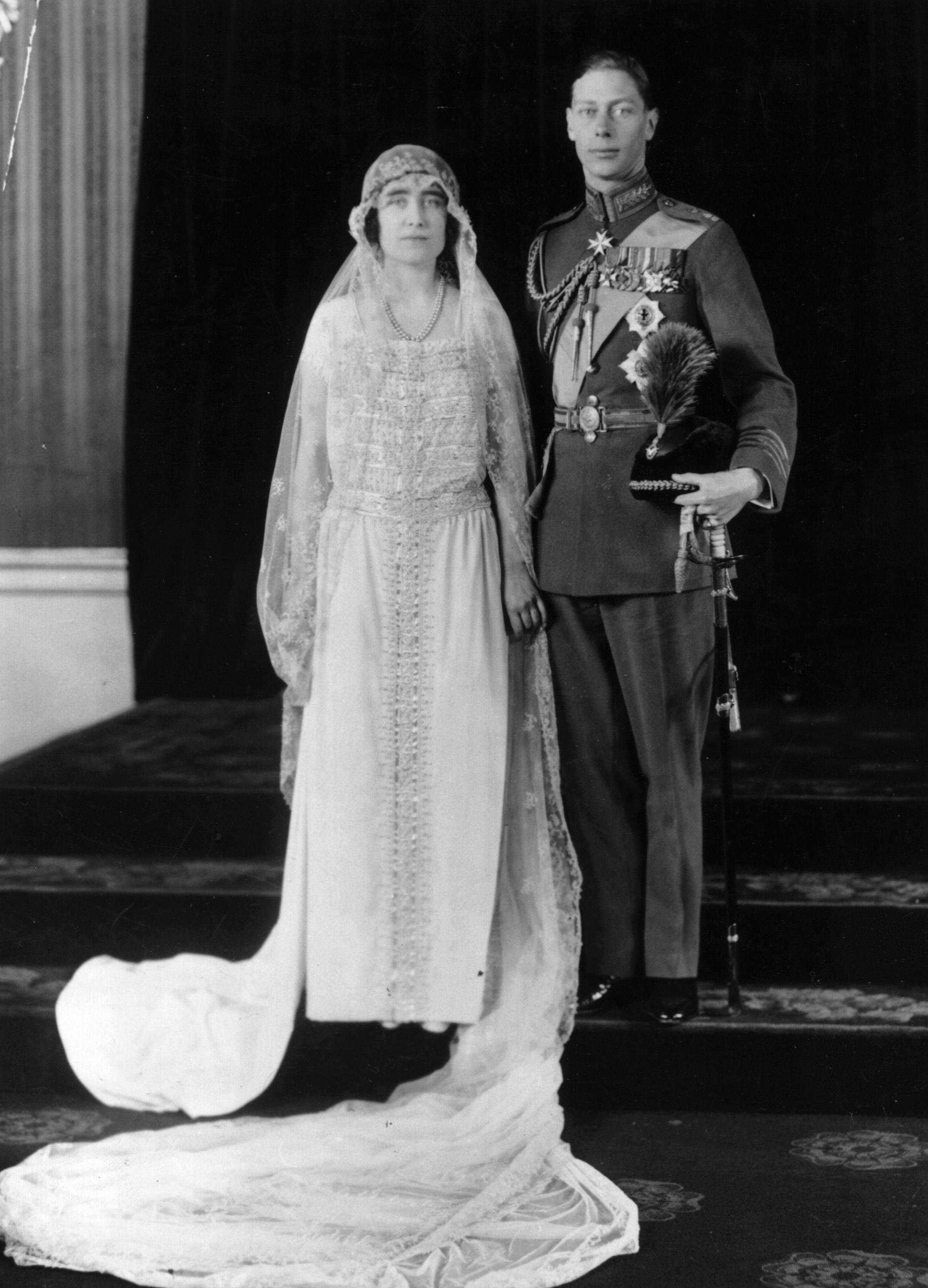 Królewskie Śluby - książę Albert (Król Jerzy VI) i Elizabeth Bowes-Lyon (Królowa Elżbieta).