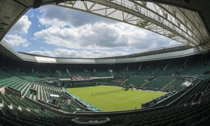 Centre Court prepares to host the 2015 tournament.