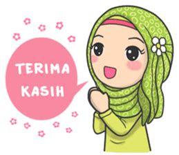 dp muslimah kartun kumpulan dp hijab