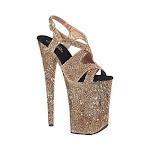 "Women's Pleaser Infinity-930LG 9"" Heel 5 1/4"" Platform Sandal"