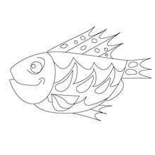 Dibujos Para Colorear Pescado De Abril Con Aletas Agudas Es