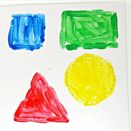 Painting Shapes - Easy Toddler Painting Activity - My Bored Toddler