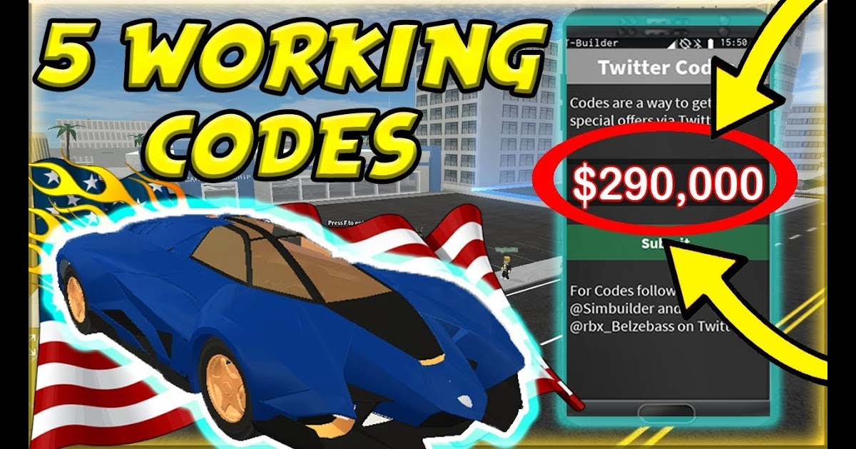 Roblox Vehicle Simulator Codes July 2018 | Robux Hack Account