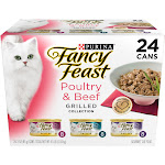 Fancy Feast Cat Food, Gourmet, Grilled, Poultry & Beef Feast Variety - 24 pack, 3 oz cans