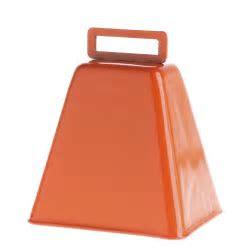 Bright Orange Metal Cowbell   Bells   Basic Craft Supplies