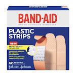 Band-Aid Plastic Adhesive Bandage - Size: 3 / 4 X 3 Inches - 60 Ea