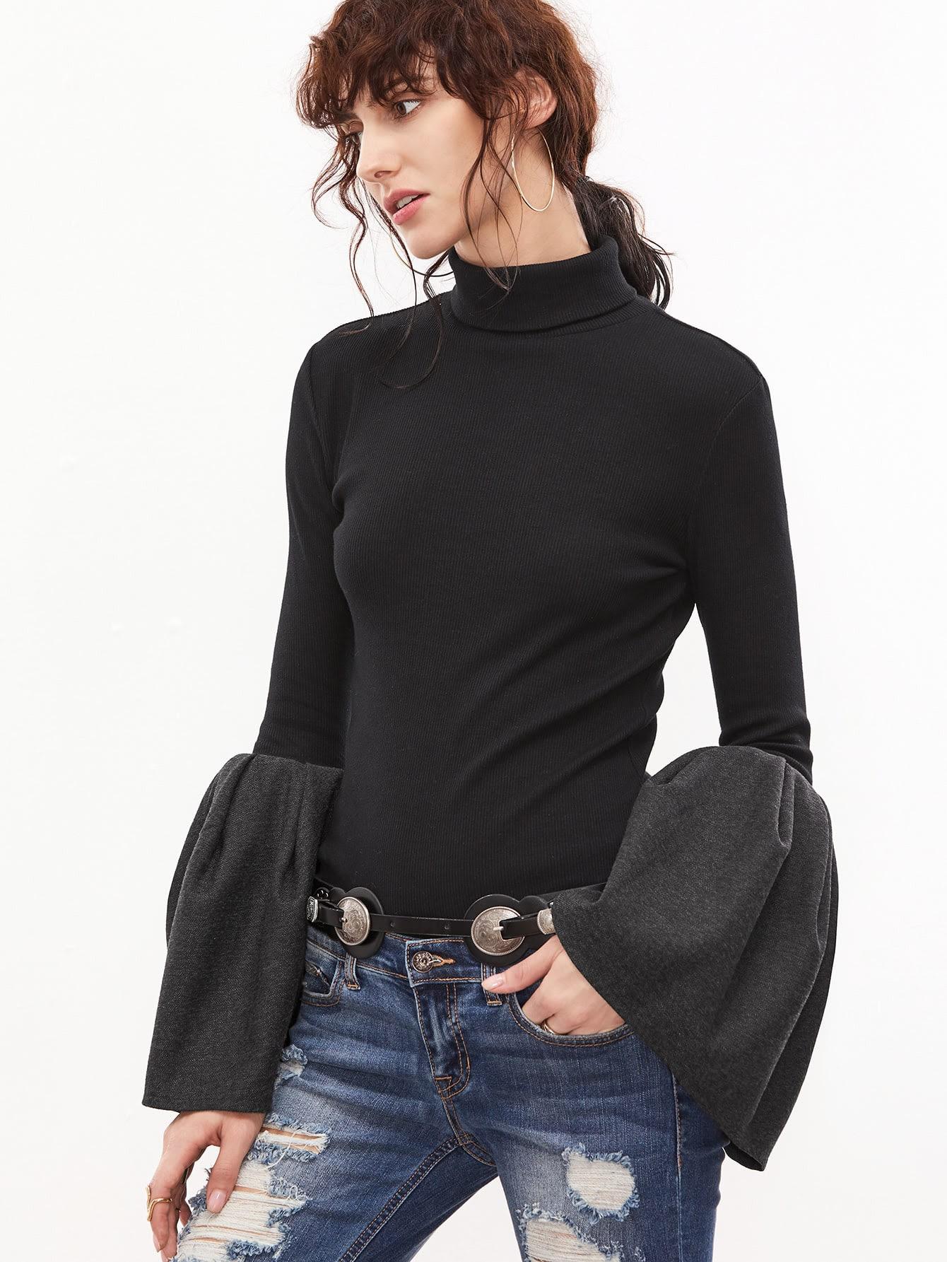 Oversized turtleneck plain knitted shift dress online