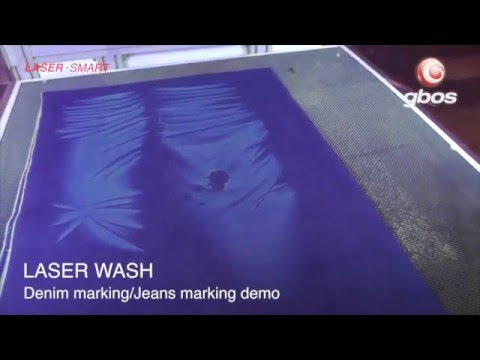 Laser engraving of Denim