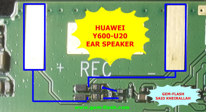 Huawei Y600-U20 Earpiece Solution Ear Speaker Problem Jumper Ways