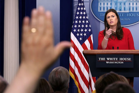 Dissent will not be tolerated, White House press secretary suggests