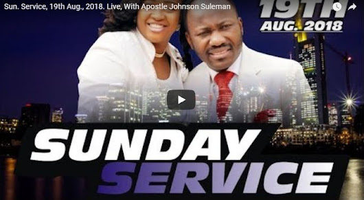 Live with Apostle Johnson Suleman Service 23rd Sept - Daily Inspirational devotionals