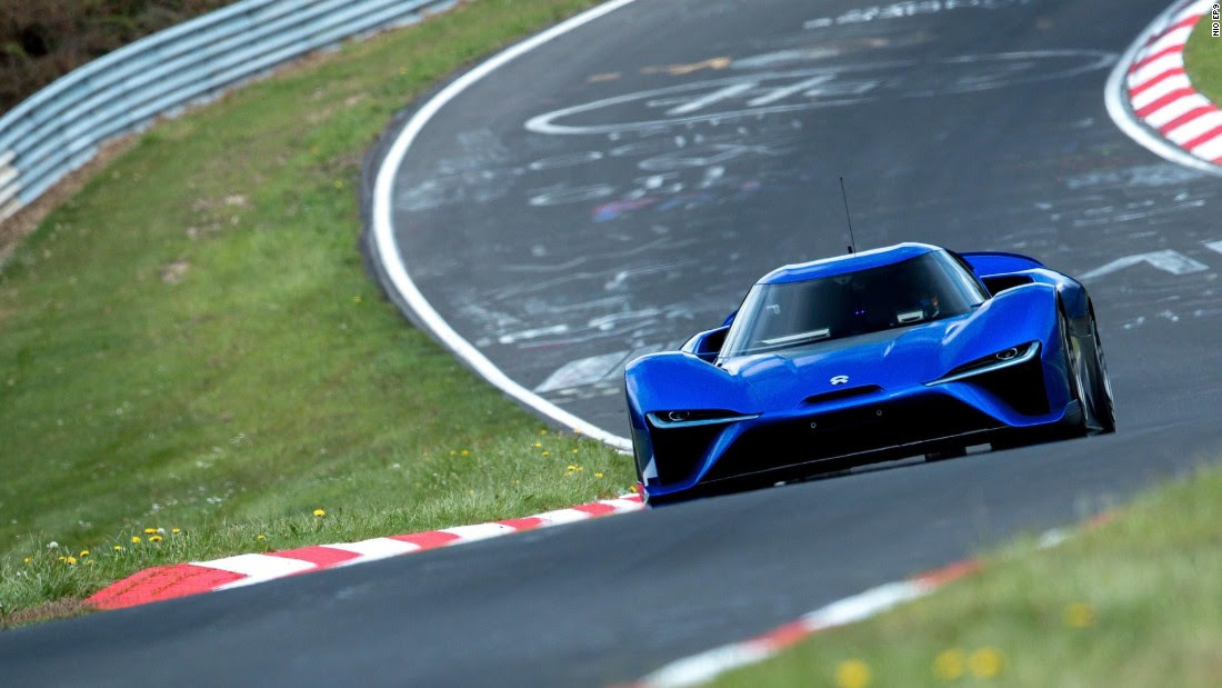 The all-electric NIO EP9 is the fastest road-legal car ever to take to the Nürburgring.