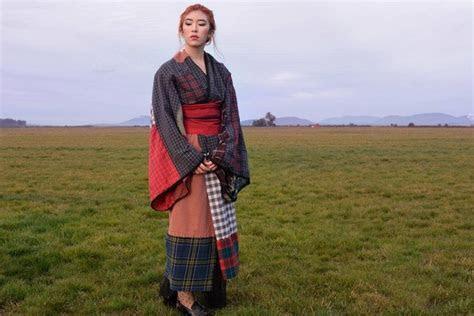 Woman Sews Handmade Kimono to Honor Japanese and Scottish