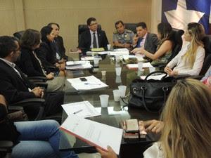 Representante da ONU apresenta documento no MA (Foto: Secom)