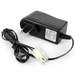Tenergy 12V 300mA AC Plug Charger for 6.0V - 9.6V NiMH Batteries with Standard Size Tamiya Connector (Charger Side)