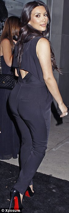 Celebrity Picture: Kim Kardashian, right, has lost 10lbs
