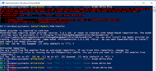 Write-Color is now published as PowerShell Module - Evotec