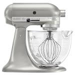 KitchenAid - KSM155GBSR Artisan Designer Series Tilt-Head Stand Mixer - Sugar Pearl Silver