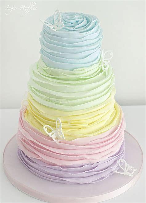 Beautiful pastel coloured cake   Cakes & Bakes   Birthday