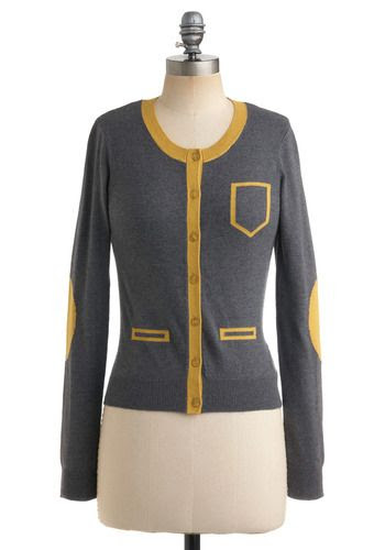 grey and mustard sweater