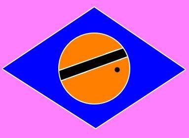 - Olhe atentamente para o ponto por aproximadamente 40 segundos, depois pisque os olhos num espaço em branco, e verá a bandeira brasileira com as suas cores reais.