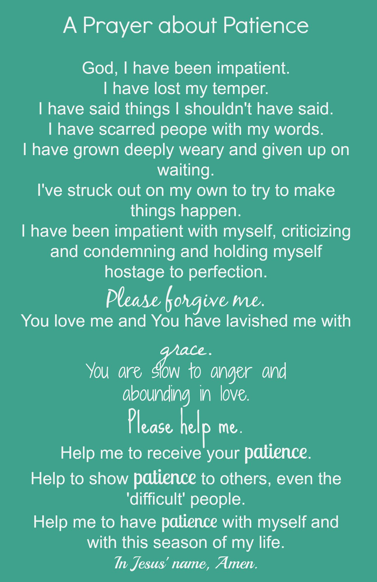 Quotes About Praying For Patience 18 Quotes
