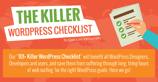 WordPress Checklist (Infographic): 101+ Amazing Steps to Follow!