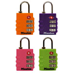 Master Lock 4684t Tsa Approved Luggage Lock, Assorted, 2-pack