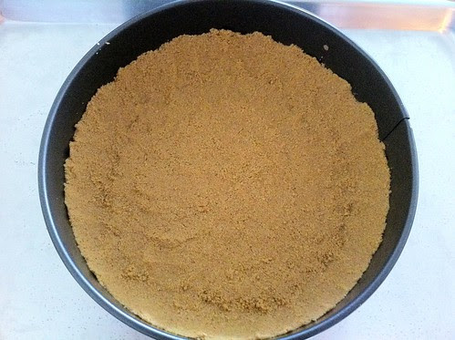 Graham Cracker Crust Pressed into Springform Pan