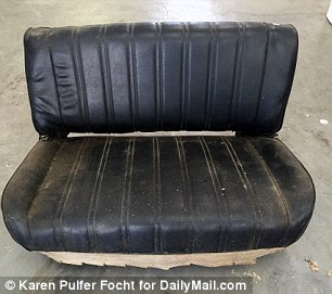 Offers were welcome for an old black car seat