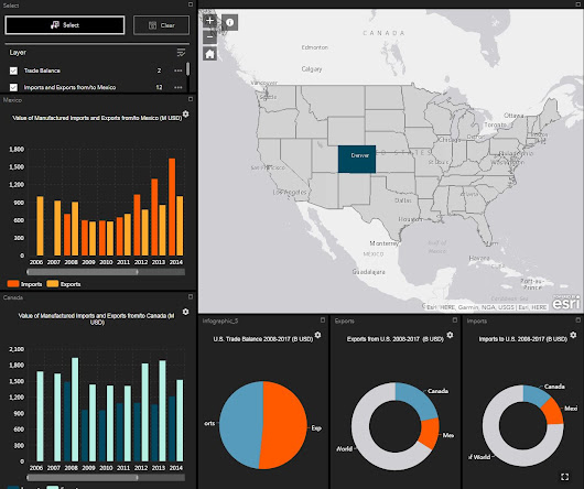 Interactive Dashboard App, Developed by Esri, Visualizes Trade Flow of U.S. States - GEO Jobe