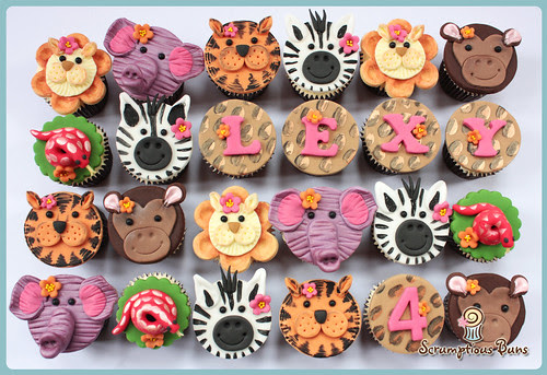 Zoo Mini Cupcakes by Scrumptious Buns (Samantha)