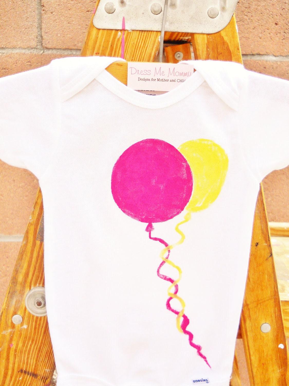 Kids Children Balloons Party Birthday Toddler T-Shirt or Baby Onesie