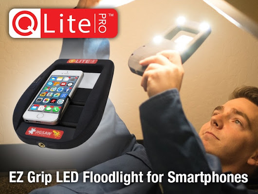QLite Pro EZ Grip LED Floodlight for Smartphones by Ross Q. Smith — Kickstarter