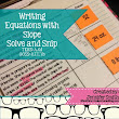 Writing Equations with Slope Solve and Snip Interactive Word Problems