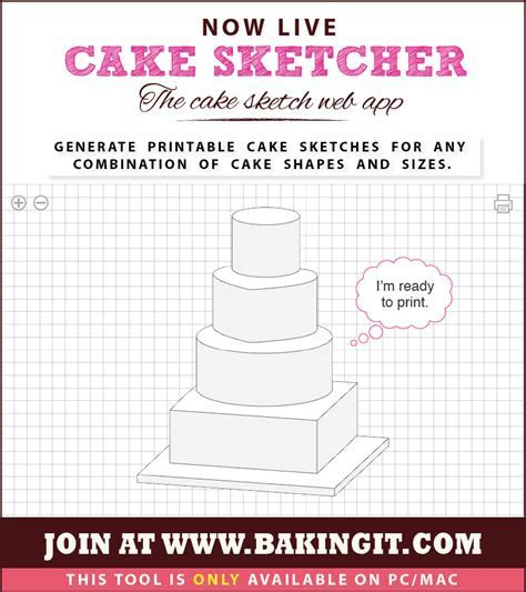 FREE Cake Sketcher web app   It draws a Cake Sketch