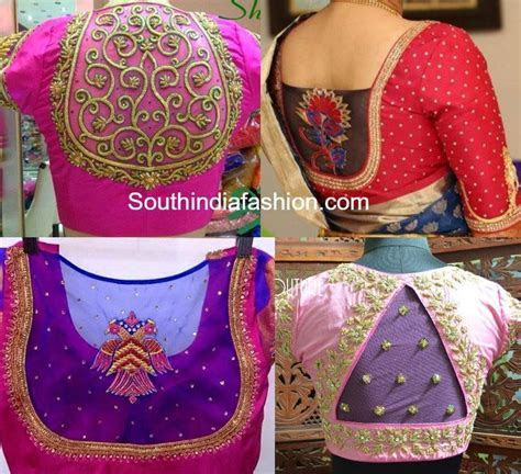 Netted Blouse Designs for Silk Sarees ? South India Fashion